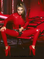 Head to toe in red latex