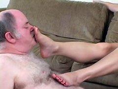 Tasting her toes