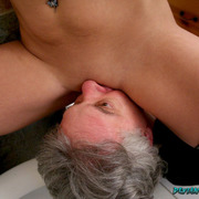 Smothering and facesitting by ass, shoe licking