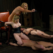 Three slaveboys were tested for submission hard