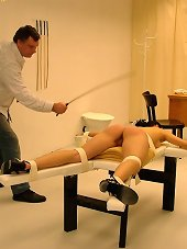 Teen tied and caned