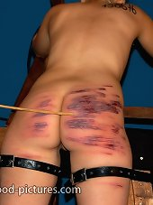 The blonde gets bloody spanking