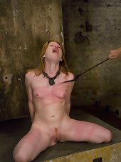 Bound, spanked and hard fucked slavegirl