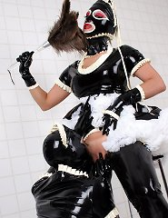 Bisexual Rubber Maids Clean Up