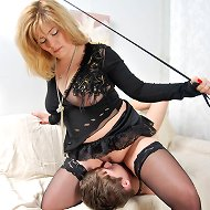 Dominant mature lady tames a young chav turning him into a perfect boy toy