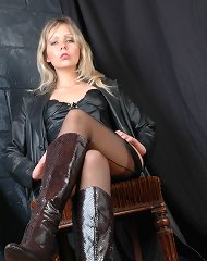There is nothing like a sexy leather outfit on a horny Fetish Wife