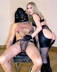 Slave`s nipple tease