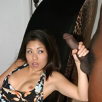 Asian dilettante wanking black dick