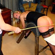 Two red bottoms caning