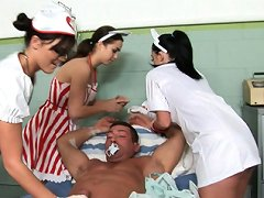 Hot nurses in the cfnm action