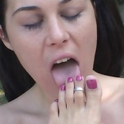 Two girls licking feet and pussy