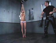 She has been tied up, spanked and fucked at the same time