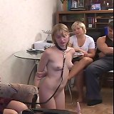 Slavegirl humiliated and caned at home