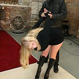 Slut suspended and bullwhipped