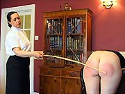 Caning of hot ass