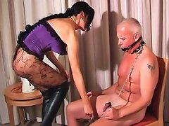 Carmen forces her hung stud to serve and please her as she commands