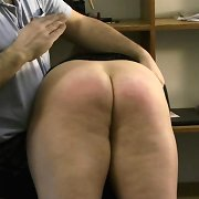 Bad secretary was spanked by boss