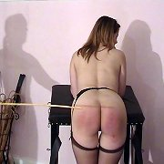 Milf slut was caned