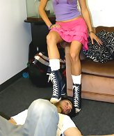Chick in ping skirt trampled malesub