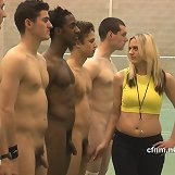 Female trainer forces top college athletes to exercise naked