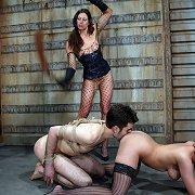 Whipping, bondage, ass worship