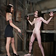 Man strapon fucked and caned