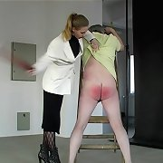 Strapped and caned to tears by viscious bitch