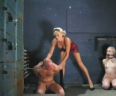 Foot domination,strapon and cbt
