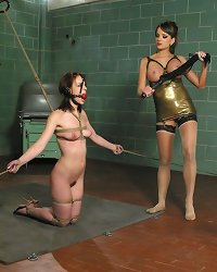 Cute slave tormented