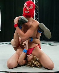 Crimson Ninja vs Kat. Who takes on the dildo?