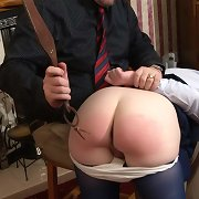Daddy punished by paddle schoolgirl