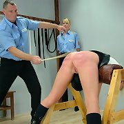 Pretty blonde was caned