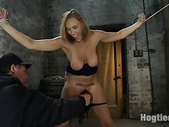 20 year old large titted hotty next door receives greater quantity then that babe bargained for. acquires bound up tight stripped and made to cum!