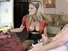 Bridgett Lee hand job with yiung guy