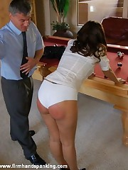 Belinda Lawson's bare bottom paddled by Amelia Rutherford in unique role switch