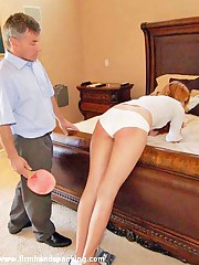 12 cane strokes on the top of Allaura's bare headquarter from Alison's brother - payback
