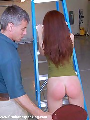 Wanton grades earns cheerleader Annabelle Lee a bald licking with a leather paddle