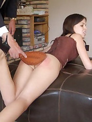 Classic literal bottom over-the-knee spanking be worthwhile for bubble butt Alison Miller