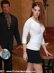 Hand and hairbrush spanking, right arm for In men's drawers down, for Allaura Shane's inactivity