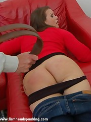 Double spanking be fitting of Alison Miller coupled with Samantha Woodley on tap Miss Tushy's