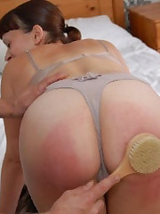 Bare bottom payback quartering be beneficial to Allaura Shane burns that booty