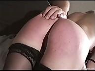 Lecherous girl has stern whips on her butt