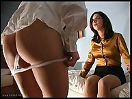 THE BARE BOTTOM CANING OF ELLIE MAYE