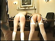Calstar Spanking. Their bare bottoms