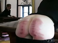 Spanking test of young babe with cool ass