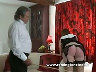 Smutty doll gets her bum slashed