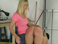 Leszom female-dominant spanks hottie otk