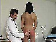 Spanking disfavour. gigantic medical examination