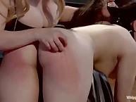 The foot service bondman had her sub caned