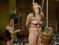 Lezdom goddess punishes her serf gal